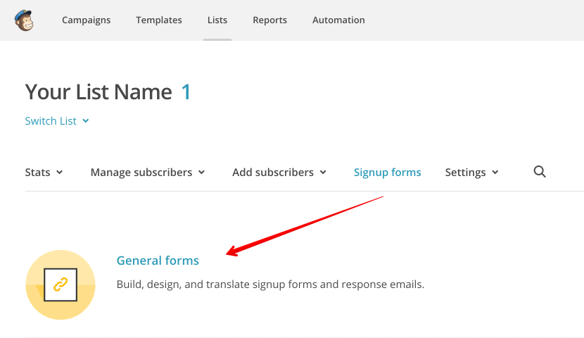 Customising Confirmation Email  Mailchimp For Wordpress