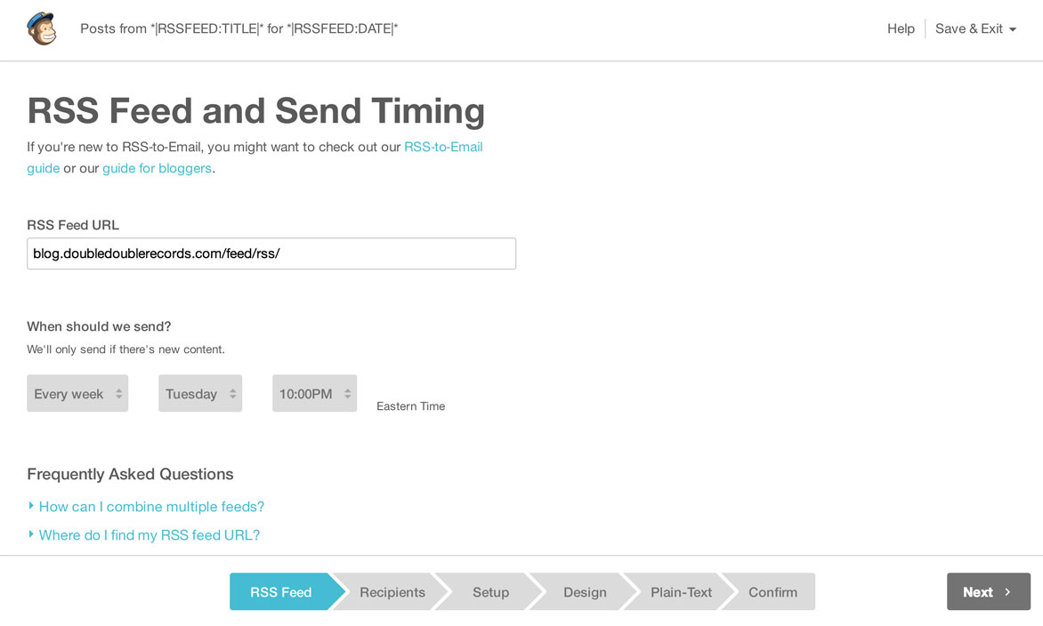 Send Email Campaign With Latest Posts MailChimp For WordPress - Export mailchimp template