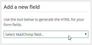 add a new field in MailCHimp for WordPress