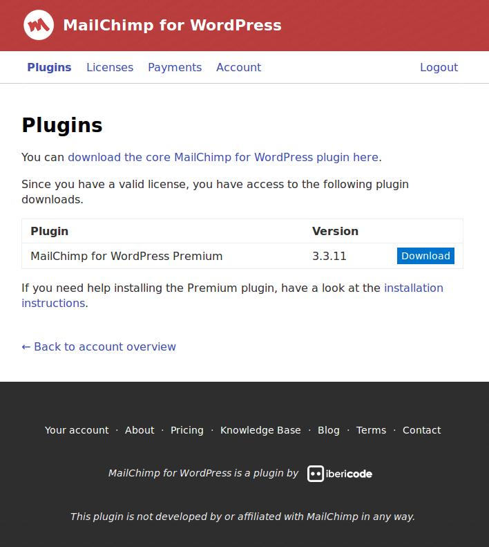 Installing The Premium Add On Mailchimp For Wordpress