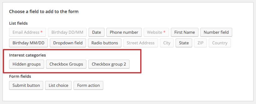 Form Fields - MailChimp for WordPress